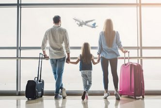 family flight vacation